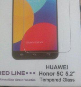 Стекло защитное на Huawel honor 5c. 5,2