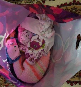 Вещи пакетом на девочку