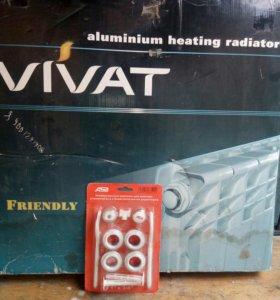 Модель 500/100 алюминевый 8-секционный радиатор