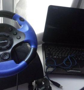Ноутбук +руль, мышь и  сумка