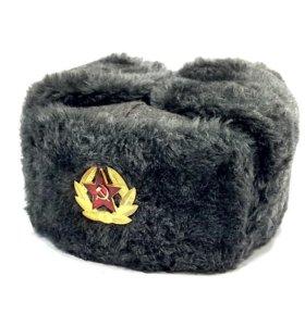 Шапка ушанка военная шапка солдатская СССР