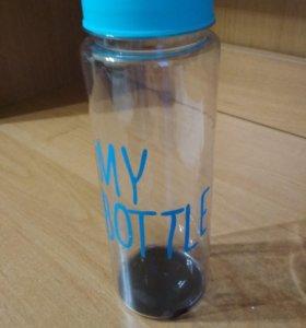 Бутылка для воды(чехол в комплекте)