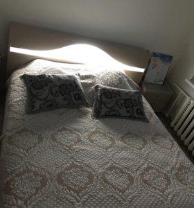 Кровать с подсветкой двуспальная