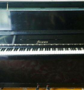 """Пианино """"Гамма"""" советское. В черном цвете"""