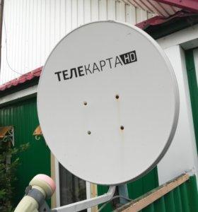 Спутниковая тарелка и приставка