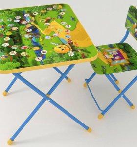 Детские стол и стул, мольберт