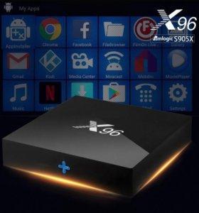 X96 S905X Смарт тв приставка 4К