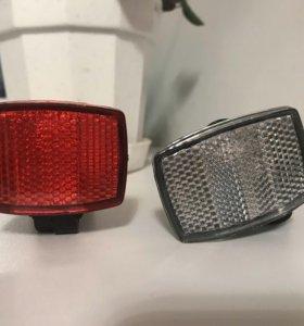 Катафоты(светоотражатели) передний и задний