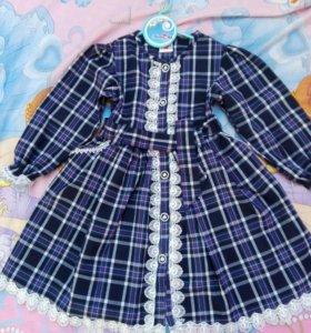 Новое платье на девочку 104-110