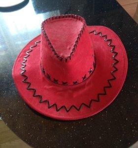 Шляпа Ярко красная бу
