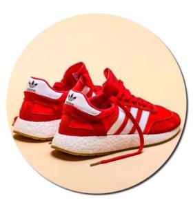 Кроссовки Adidas Iniki красные арт.014