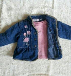 Джинсовая куртка+кофта