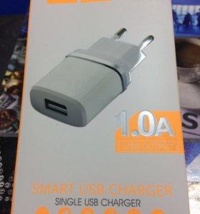 Сетевое зарядное устройство Hoco premium 1А, 2.4А