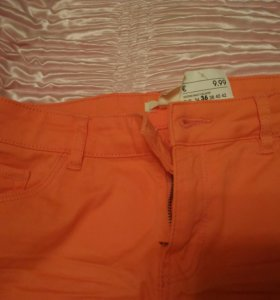 Новые джинсовые оранжевые шорты H&M 42 росc (36)