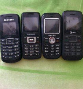Телефоны кнопочные б/у рабочие
