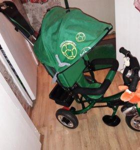 Велосипед детский новый коляска каталка