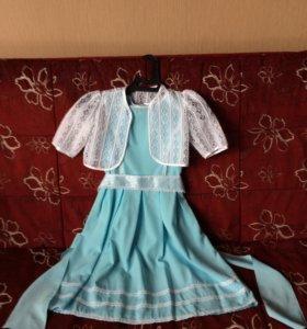 Платье БУ с поясом