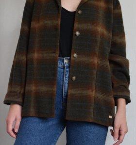 Винтажный клетчатый пиджак жакет bruphils