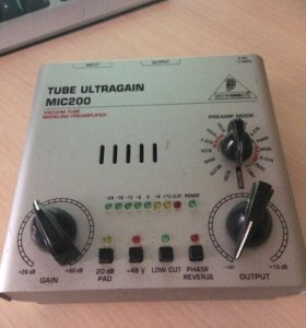 Предусилитель Berlinger tube ultragain mic 200
