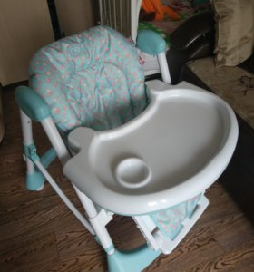 Стульчик для кормления Happy Baby Kevin Blue