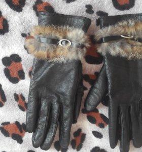 Перчатки натур.кожа