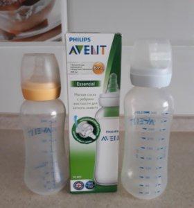 Бутылочки Avent, Nuby, пустышки