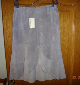 Замшевая юбка Новая