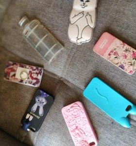 Чехлы на iPhone. 5/5s. Цена за 5 штук.