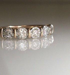 😍Золото 585, кольцо Дорожка бриллианты