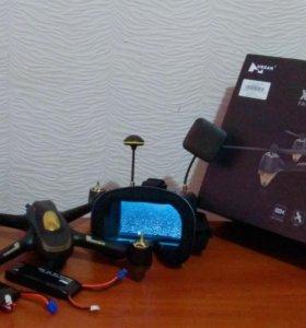 Квадрокоптер с камерой и шлемом hubsan h501s pro