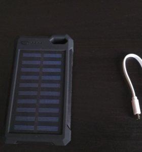Power bank 28000 mAH с солнечной батареей черный.