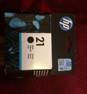 Картридж HP 21 струйный чёрный