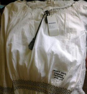 Комплект блуза каре и юбка в стиле бохо
