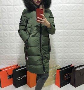 куртка зима  б.у 2 месяца носила беременная