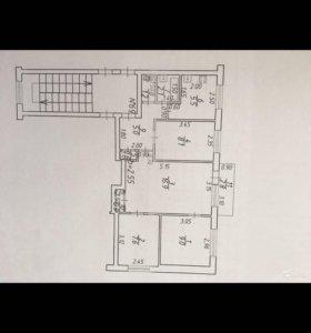 Квартира, 4 комнаты, 56.9 м²