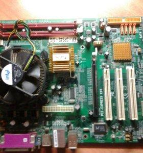 Материнская плата+процессор+кулер