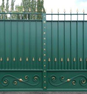 Зачистка и перекраска ворот