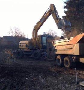 Услуги Гидромолот Аренда Снос Дом Демонтаж