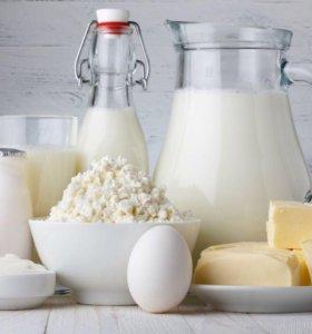 Домашнее молоко и другие молочные продукты и яица