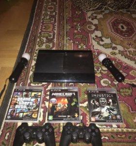 PlayStation 3 500гб + игры