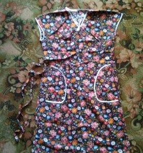 Женское ситцевое платье