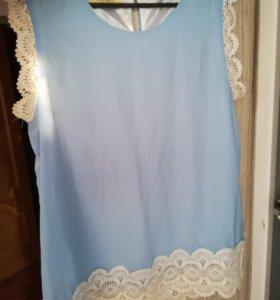 Блузка с круживами.