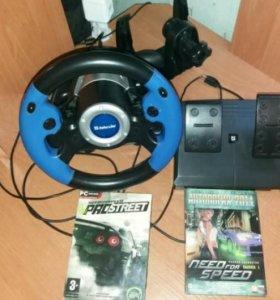 Игровой руль(Defender MX-V9) + игры