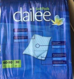 Гигиенические пелёнки dailee 60-90