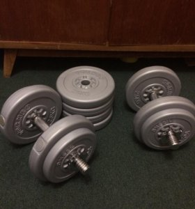 Разборные гантели по 17 кг