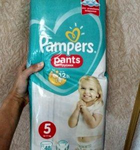 Трусики Pampers pants 5. 12_18кг. Новые
