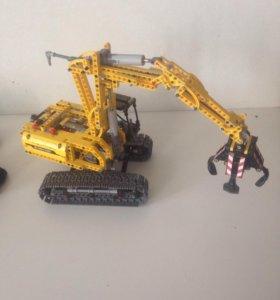 Лего экскаватор 42006