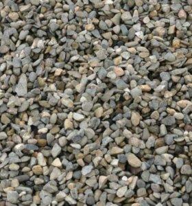 глина, песок, гравий