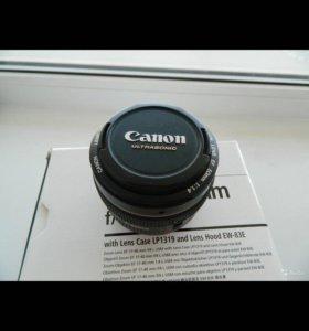 Обьектив Canon 50мм 1.4