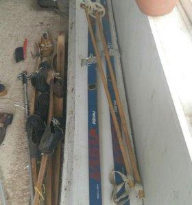 Лыжи с ботинками ссср